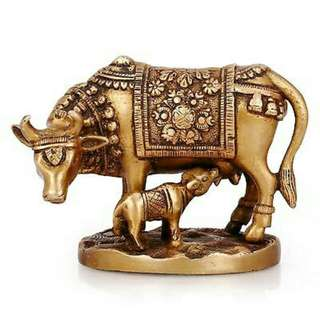 Cow and Calf Traditional Indian Antiques