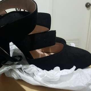 Primadonna black suede high heels