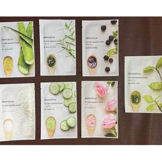 Innisfree It's Real Squeeze Mask Set of 7
