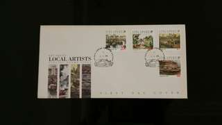 Stamp 1992 art series - local artist