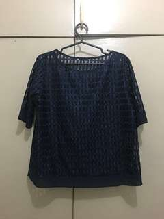 Dark Blue Knitted Top