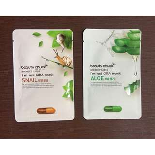 Beauty Chuck Masks (Aloe and Snail)