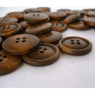 WB09021 - 20mm simple design wooden buttons, wood buttons (10 pieces)  #craft