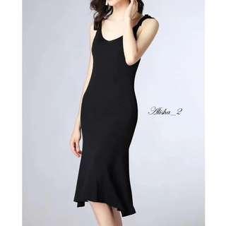 Alisha_2 Spaghetti Knit Dress. Free Size