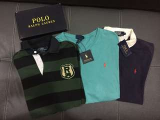 3 for Rm75 Ralph Lauren Polo Shirt Authentic Preloved