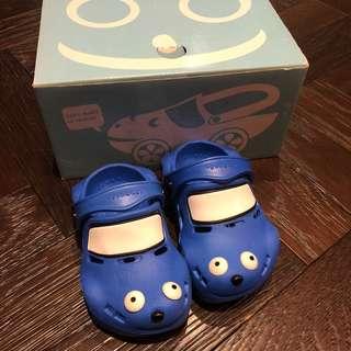 小童藍色車車涼鞋