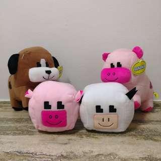 Blockish Farm Animals Plush Toys