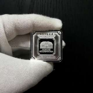Geiger Edelmetalle (Original Square Series) 1oz Silver Bar