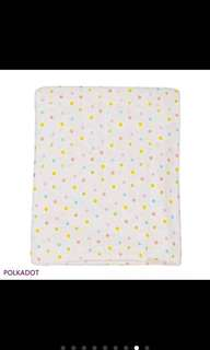 Polka Dot Swaddle Muslin Blanket
