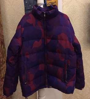 Authentic BAPE purple camouflage down jacket ape