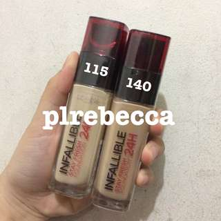 [NEW] LOREAL PARIS INFALLIBLE PRO MATTE 24H STAY FRESH FOUNDATION SHARE IN JAR MURAH ORI ASLI LIQUID