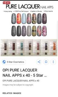 Nail Sticker (OPI) @ $5 Only! * Cheapest in town*