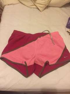 Nike pink running shorts size Medium