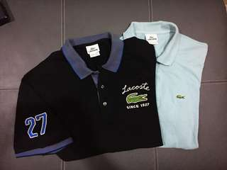 2 for Rm65 Lacoste Polo Shirt Authentic Preloved