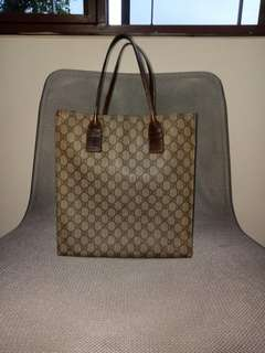 Authentic Gucci Canvas document tote bag