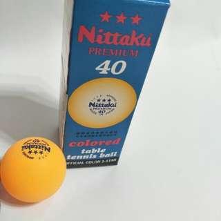🚚 全新nittaku premium 硬球40mm 乒乓球,一盒三顆