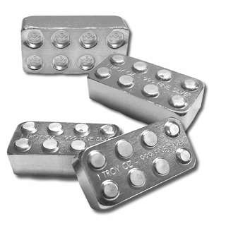 Monarch Building Blocks 1oz Silver Bar