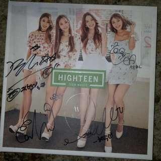 Highteen Signed Promo Album