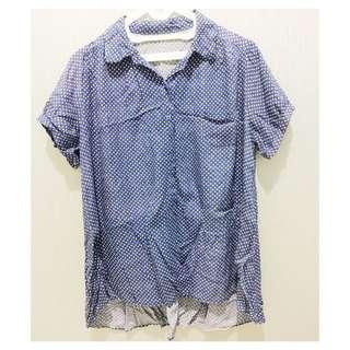 Polkadot blue shirt