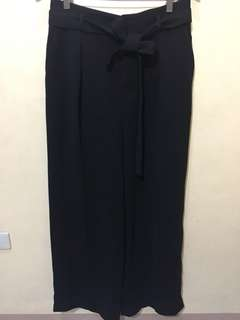 UNIQLO Women Belted Linen Cotton Wide Pants