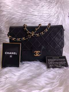Authentic Chanel Classic Shoulder Bag with 24K Gold Hardware