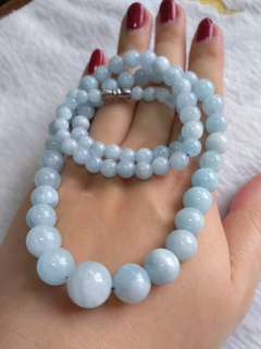 💞$188 Special Promo - Natural Blue Aquamarine 海蓝宝 项链 Necklace💞