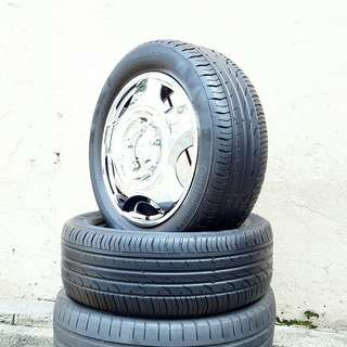 Used 205/55 R16(Sold) Continental (2pcs) 🙋‍♂️