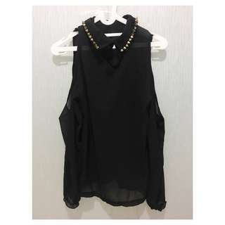 Studded black shirt NEW