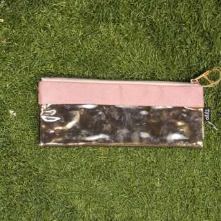 SMALL SIZE 1ZIP PINK COLOR PENCIL CASE ( FREE SHIPPING)