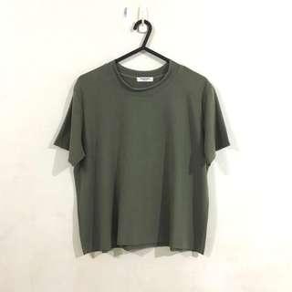 Raw Edge Basic Tshirt in Green