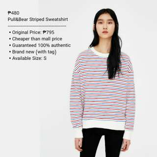 Pull&Bear Striped Sweatshirt