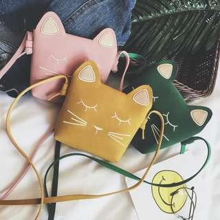 新款可爱公主斜挎包女童迷你小包猫咪宝宝挎包