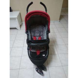 Sweet Cherry Stroller - Black and Red color