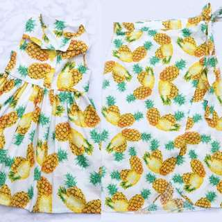 Mom And Daughter D&G Pineapple