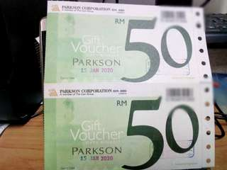 Parkson Voucher RM100 for RM95 ONLY!!!