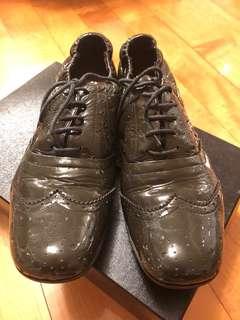 Miu Miu Oxford Shoes 原裝真品灰色漆皮女裝紳士鞋