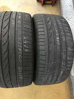 275/40/20 bridgestone used  run flat tyre $70pc