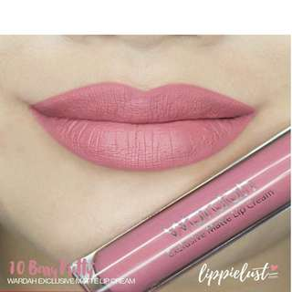 Wardah exclusive matte lip cream no 10