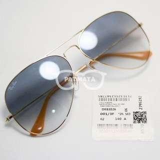 Rayban Aviator Gold Lens Gradient Blue