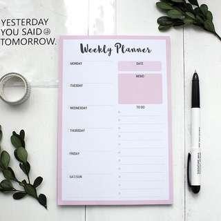Weekly Planner [Pre-order]