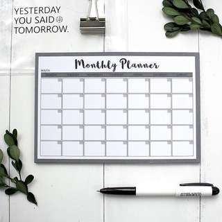 Monthly Planner (Grey) [Pre-order]
