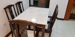 Marbel table & chairs