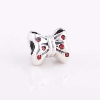 Code S46, Bow 100% 925 Sterling Silver Charm compatible With Pandora
