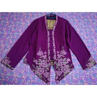 Preloved Purple & Gold Kebaya