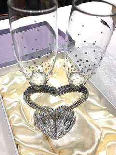Swarovski Crystal Champagne Glass Flutes
