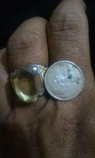 Lemon  quartz (free gift old coin)