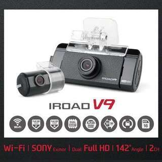 IROAD V9 front and rear camera s1