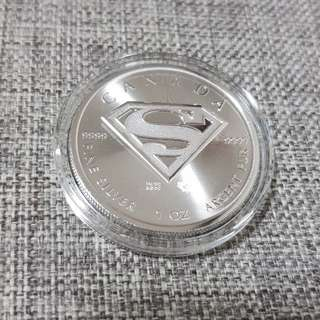 1oz 99.99 Pure Silver with Superman Emblem