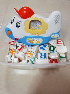 Aeroplane Alphabets Letters Kids Toddlers Baby Learning Toy Educational