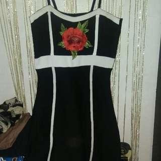Knitted dress w rose app